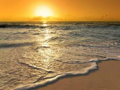 Sun Set on the Beach