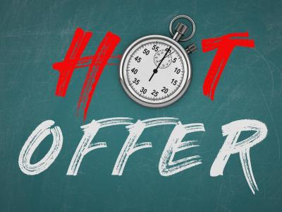 Hot Offer with stop watch