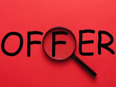 Offer magnifying glass