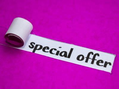 special Offer pink background