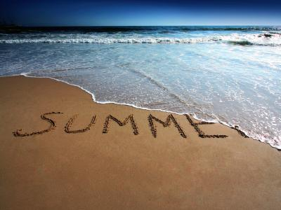 Word Summer on Beach