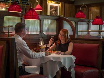 couple in brasserie
