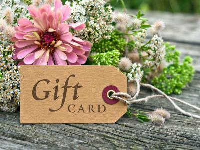 Gift Card Tag with flowers