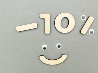 10% off smiley face