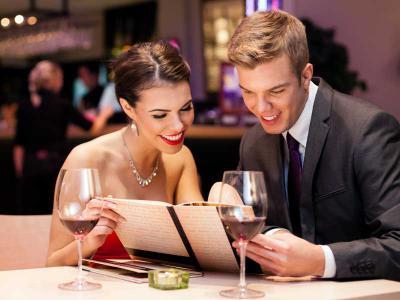 Dining Couple Wine