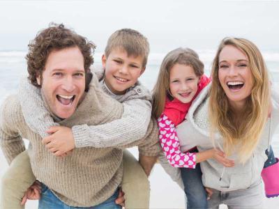 Irish Beach Family