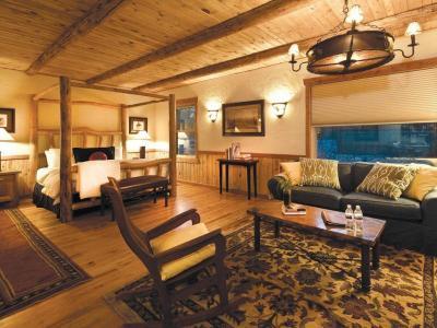River Studio King Bed & Living Area
