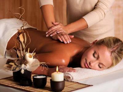 Girl Having Massage At Spa